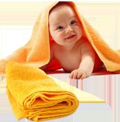 Khăn bông em bé trẻ sơ sinh