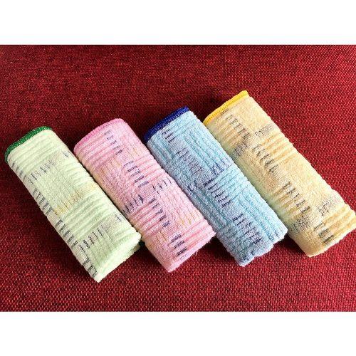 Bộ 5 khăn mặt sợi tre siêu mềm mịn, kháng khuẩn kích thước 30x50cm