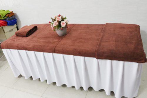 Khăn Trải giường spa màu nâu.jpeg