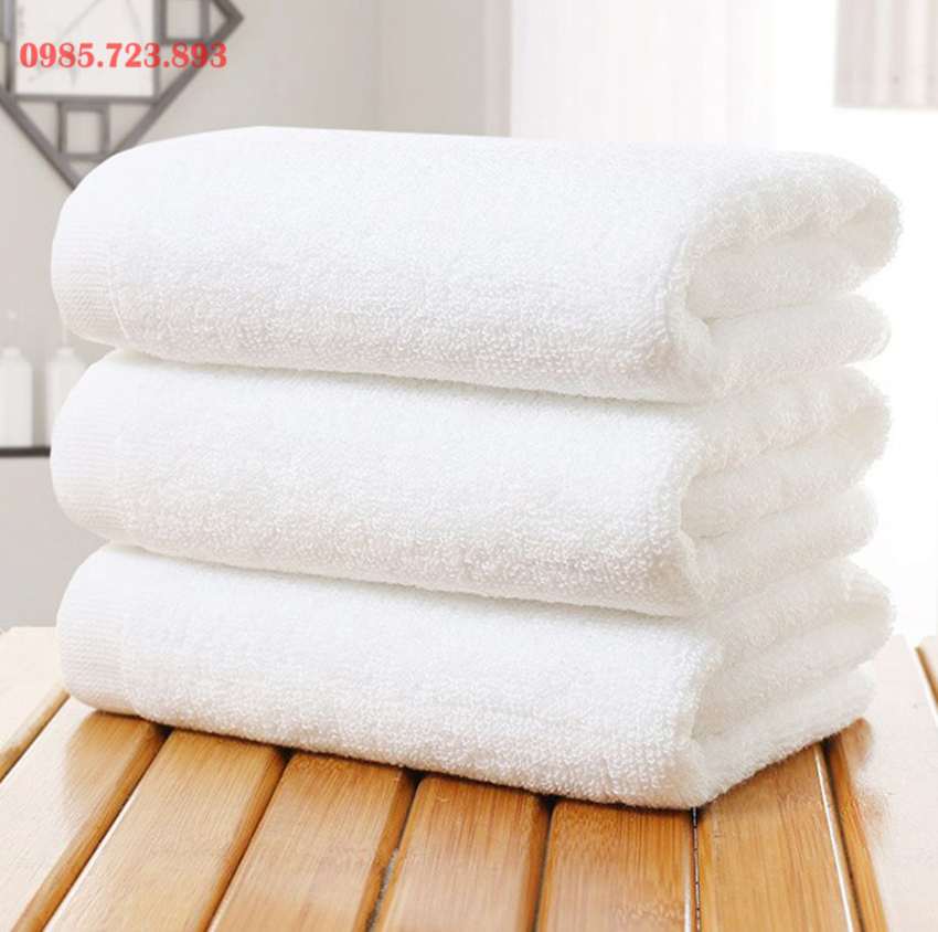 Khăn tắm trắng khách sạn 70x140 500Gr
