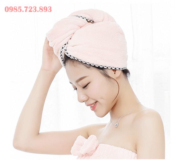 Phân phối khăn quấn tóc nhanh khô